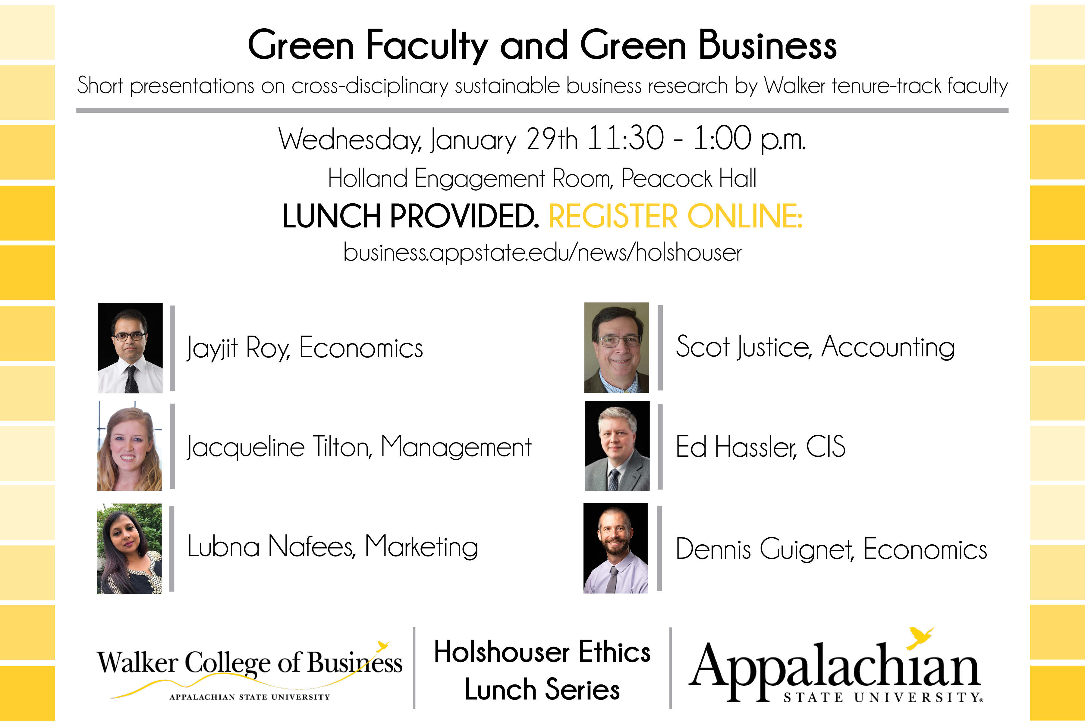 Holshouser Ethics Lunch January 2020